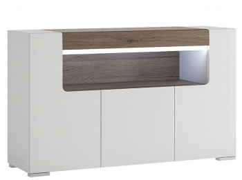 Toronto 3 Door Sideboard with Open Shelf